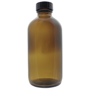 Amber Boston Round Glass Bottle - 16 oz. Case of 60 (DL-C366)