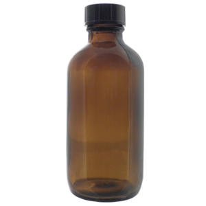 Amber Boston Round Glass Bottles - 4 oz. Case of 128 (DL-C364)