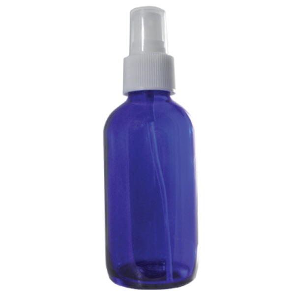 Cobalt Blue Glass Bottle with Spray Top - 4 oz. (DL-C369)
