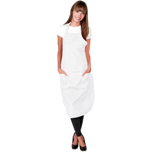 Sheer Luminous Apron - White - Great for Estheticans (BD176-WH)