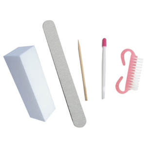 5 Piece Disposable Manicure Kit For Artificial Nails (DL-C384)