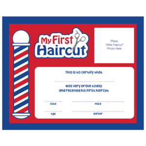 """My First Haircut"" Certificates 12 Pack (SC-MFH)"