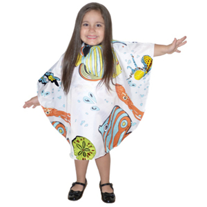 "Tropical Fish Pattern Cutting & Styling Kiddie Cape 29"" x 37"" (4056)"
