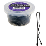 "1-14"" Mini Black Bobby Pins 100 Pack (SNS-102BK)"