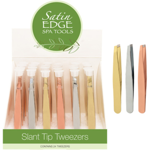 Slant Tip Tweezer Display 24 Piece (SE-2153)