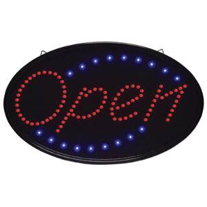 "Oval ""Open"" LED Sign - Indoor Use 14-14""H x 23""W (FSC-919)"