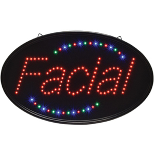 "Oval ""Facial"" LED Sign - Indoor Use 14-14""H x 23""W (FSC-920)"