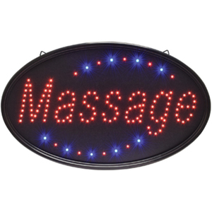 "Oval ""Massage"" LED Sign - Indoor Use 14-14""H x 23""W (FSC-921)"