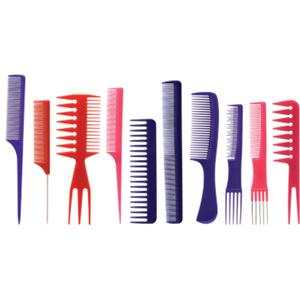 10 Piece Assorted Comb Set In Roll Up (AR-44)
