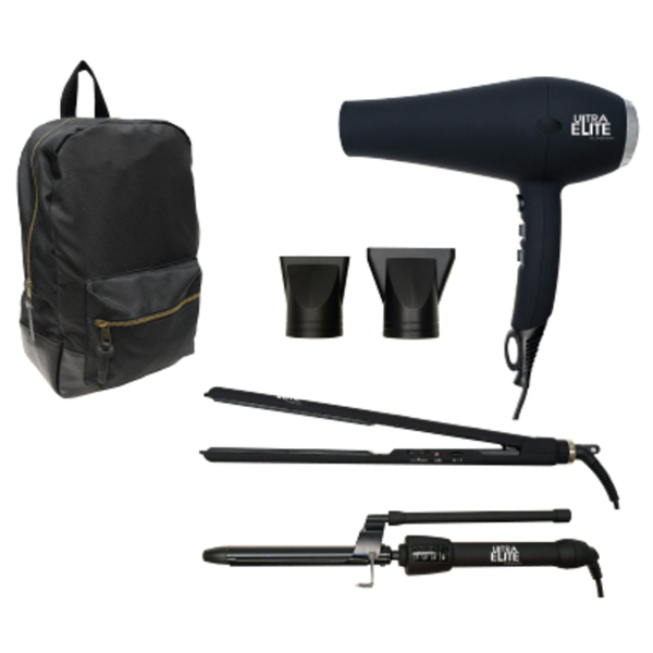 Styling Set In Backpack Dryer + Flat Iron + Marcel Iron + Backpack (SC-STYLESET)