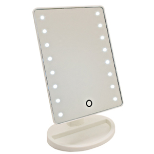 "LED Make-Up Mirror With Stand 8.5""H X 6.5""W Mirrror 10.5"" From Top To Base (BI-MR1)"