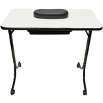 Deluxe Portable Manicure Table With Arm Rest (9049)