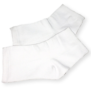 White Pedicure Socks 1 Pair (DL-C441)