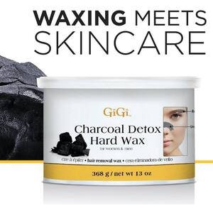 Charcoal Detox Stripless Hard Wax By Gigi 13 oz. (GG-0286)