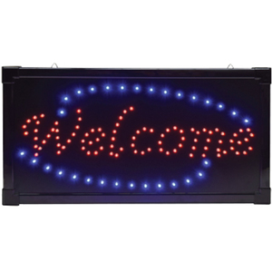 """Welcome"" LED Sign 10""H x 19""W x 34""D (FSC-930)"