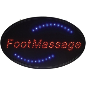 "Oval ""Foot Massage"" LED Sign 14.25""H x 23""W x 1""D (FSC-929)"
