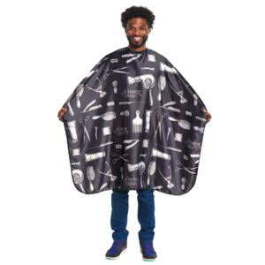 "Barber Print Styling Cape 45"" x 58"" (4141)"