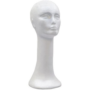 "Styrofoam Head With Long Neck 18""H and 22"" Circumference (STYROHEAD-3)"