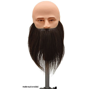 Manikin Head + Slip-On Face with Beard Set 2 Piece Set (SP-901B)
