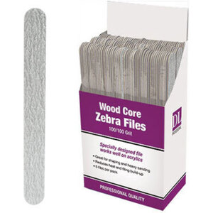 Professional Wood Core Zebra Nail File 100100 Grit Display With 150 Files (DL-C470)