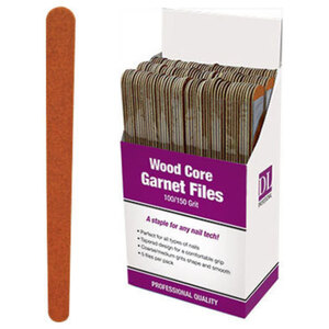 Professional Wood Core Garnet Nail File - 100150 Grit Display With 150 Files (DL-C473)