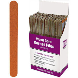 Professional Wood Core Garnet Nail File - 100100 Grit Display With 150 Files (DL-C474)