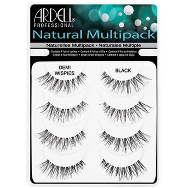 ARDELL Natural Strip Lashes - Demi Wispies - Black 4 Pack (AD61494)