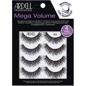 ARDELL Mega Volume Lashes - 252 Style - Black 4 Pack (AD67889)