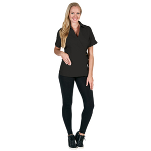Canyon Rose Esthetician Wrap Jacket - Black Small (BD676BLKS)