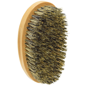 "5-14"" Curved Oval Palm Brush - 100% Natural Boar Bristles + Nylon Bristles 11 Rows (SC2234)"