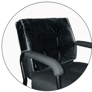 Premium Chair Back Cover - Square Clear (CBC-SC)