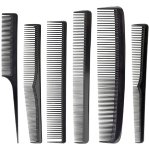 Carbon Comb Set - Heat Resistant 6 Piece Set (SC2228)