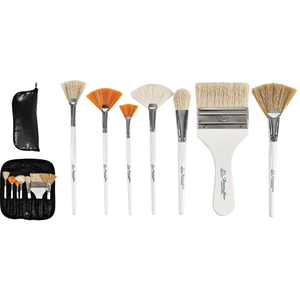 Deluxe Face And Body Brush Set 8 Brushes (FSC724)