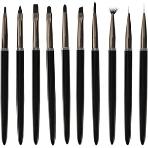Deluxe Nail Art Brush Set 10 Brushes (DL-C486)