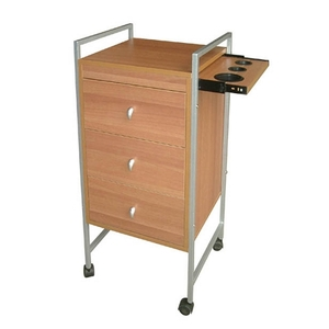 Salon Masters Wooden Hair Styling Trolley with Dra