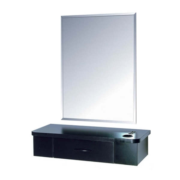 Salon Masters Mirror Styling Station with Single D