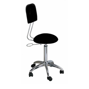 Spa Masters Round Stool with Back (CSH-2601)