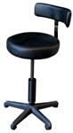 Spa Masters Stylist Stool with Big Seat Back Cus