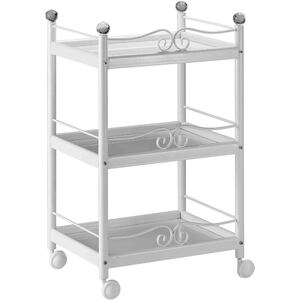 The Vilaviva Esthetician Trolley - White 3 Shelves (XY-568-107-WE)