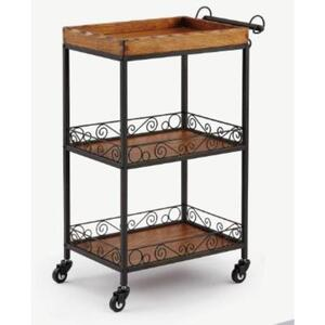 The Oriana Wood+Metal Esthetician Trolley 3 Shelves (XY-568-130-4)