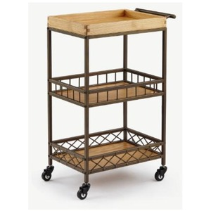 The Danica Wood+Metal Esthetician Trolley 3 Shelves (XY-568-129-09)