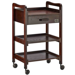 The Rayna Wooden Esthetician Trolley 3 Shelves + 1 Drawer (XY-568-42)