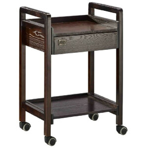 The Paloma Wooden Esthetician Trolley 2 Shelves + 1 Drawer (XY-568-75-11)