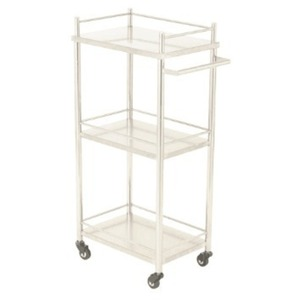 The Zuri Stainless Steel Trolley 3 Shelves + Pull Handle (XY-28359)