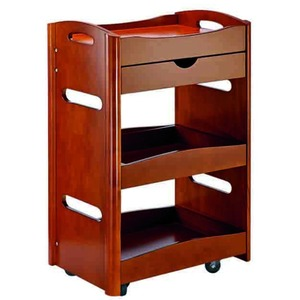The Willa Wooden Esthetician Trolley 3 Shelves + 1 Drawer (XY-568-110-06)