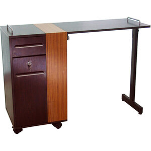 The Gianna Portable Manicure Table - Two Tone Finsih 2 Drawers - 1 Locking! (CSH-2726)