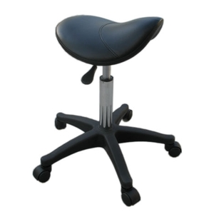 HBNY Dennis Small Saddle Stool Black Plastic (ST