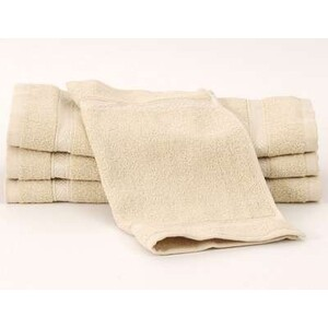 "Bleachsafe Washcloth Tan 13""x13"" 1 Dozen (P1"