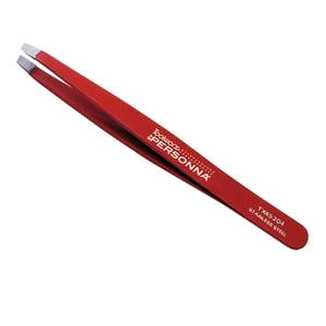 "TOOLWORX 4"" Slanted Tweezer Red"