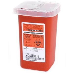Sharps Disposable Boxes 1.0 Qt
